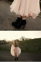 Jeffrey Campbell boots - vintage skirt - Republic top