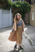 camel izabel london jacket - black Topshop boots - camel Marks & Spencer pants