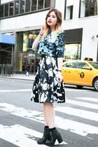 blue Nylon Shop bag - turquoise blue Nylon Shop top - black Nylon Shop skirt