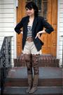 Thrifted-blazer-bdg-shirt-kimichi-blue-shorts-thrifted-boots-urban-out