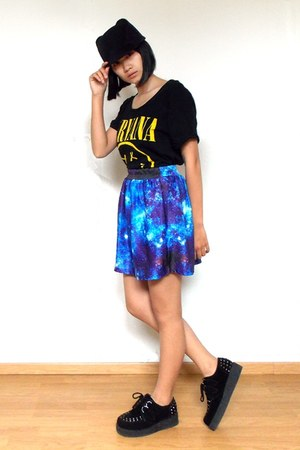 galaxy print fashiondacci skirt