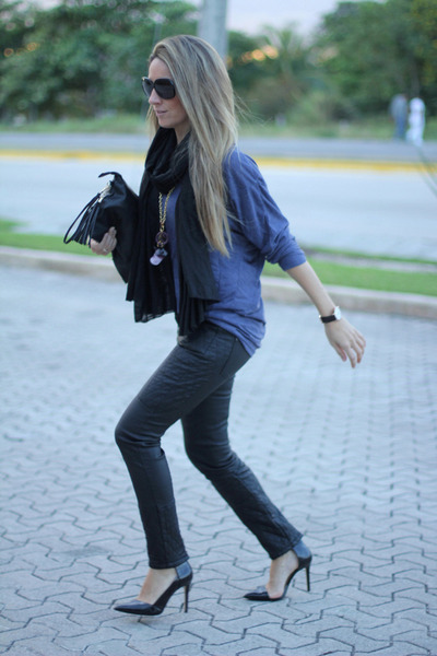 leather Zara pants