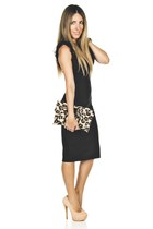 lbd RED valentino dress - animal print RED valentino bag