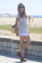 Medwinds wedges - GMAlessandro Simoni shorts - Zara t-shirt
