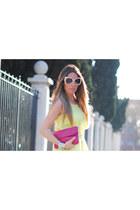 silver bracelet Nelly bracelet - romwe sunglasses - H&M Trend pants