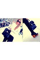 Friis & Company clogs - Primark sweater - adorebag bag - Primark shorts