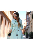 mint colour Queens Wardrobe jacket - vintage bag