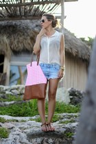 hm blouse - Mei Love bag - Zara shorts - Rondini sandals