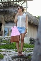 hm blouse - Mei Love bag - Zara shorts - Rondini sandals