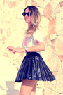 Armani-sunglasses-little-id-t-shirt-leather-pleated-romwe-skirt