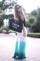 fluo necklace romwe necklace - creme trend OASAP bag - Giorgio Armani sunglasses