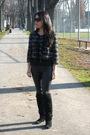 Black-forever-21-blazer-black-spring-boots