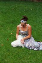 uknown maxi dress - DIY hair band accessories