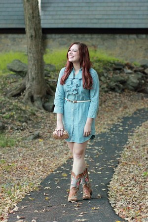 tawny Cavenders boots - teal Ralph Lauren dress