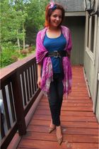 H&M scarf - DIY accessories - DKNY pants - Guess shoes