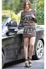 Brown-sheinside-dress
