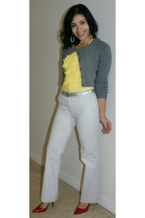 H&M sweater - Express blouse - calvin klein pants - Guess shoes