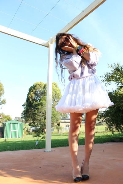 white petticoat American Apparel skirt