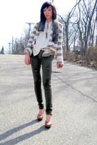 Forever21 jeans - American Eagle sweater - vintage shirt - vintage scarf - Forev