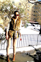H by Hudson boots - H&M sweater - balenciaga bag - Forever21 pants - Forever21 v