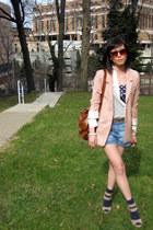 H&M boots - H&M shirt - CurrentElliott shorts - Forever21 bodysuit - Tibi sandal
