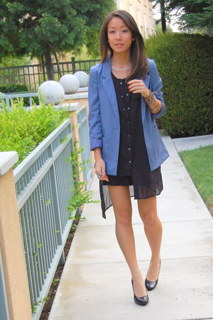 Club Monaco blazer - Charles David pumps - Sheinside top