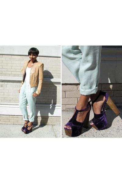 Jessica Simpson shoes - BCBG jacket - American Apparel pants