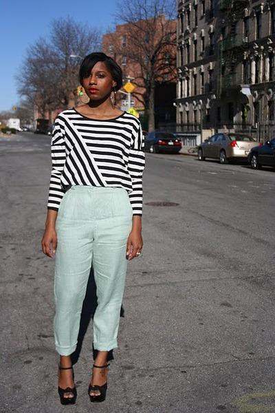 H&M top - American Apparel pants - Topshop heels