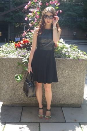 danier dress - kate spade bag - Michael Kors sunglasses - sam edelman sandals