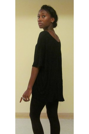 black Urban Outfitters shirt - black American Apparel leggings