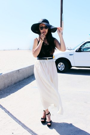 woven floppy Target hat - my stores Vagabond Youth sunglasses - vintage belt