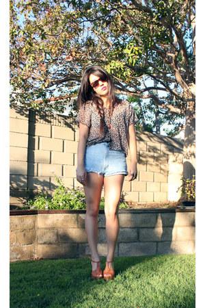 platform Jessica Simpson heels - floral Forever 21 blouse