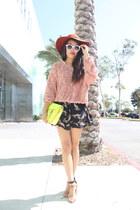 American Apparel sweater - Zara heels