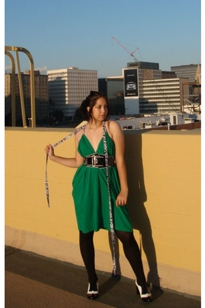 American Apparel dress - Aldo shoes - Bebe belt