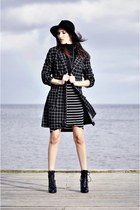 asos boots - new look coat - pull&bear skirt