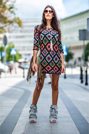 Zara dress - Parfois bag - Chloe glasses