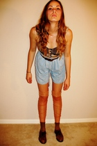 vintage bra -  belt -  old shorts - socks - socks - shoes