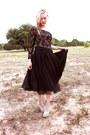 Clear-vinyl-jc-boots-vintage-dress