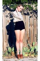 tawny whhttt shoes - black American Apparel swimwear