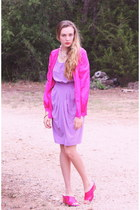 Vintage Fuschia Silk Cardigan