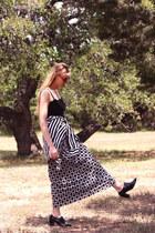 black Tom Ford sunglasses - black vintage blouse - black vintage skirt