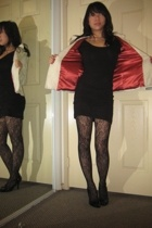 Nordstrom coat - American Apparel dress - Urban Outfitters tights - Enzo Angioli