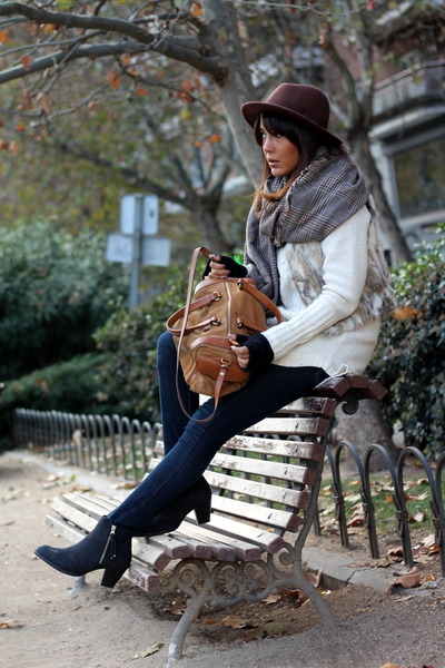 Zara scarf - Topshop boots
