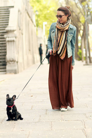 Zara skirt - H&amp;M jacket - Zara scarf - Converse sneakers