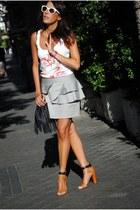 silver Primark skirt