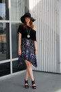 Violet-urban-outfitters-dress-black-target-hat-black-pangaea-shirt-black-t