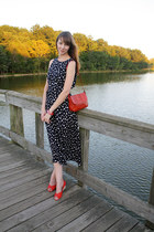 navy Mousevox Vintage dress - ruby red Mousevox Vintage bag