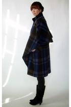vintage coat - vintage boots