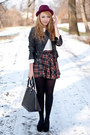 Navy-choies-skirt-black-papilion-shoes-black-sheinside-jacket