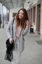 light pink OASAP shirt - light brown romwe boots